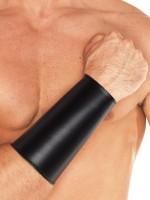 Leder Armmanschette, schwarz