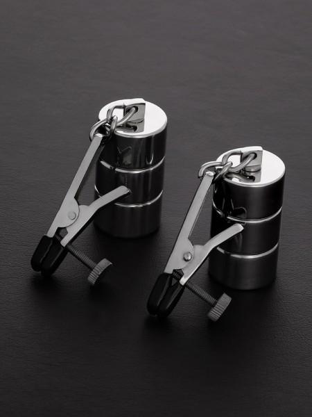 Triune Alligator Adjustable Nipple Clamps: Edelstahl-Nippelklemmen mit Gewichten