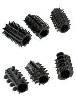 Power Sleeve Set: Penismanschetten-Set, schwarz