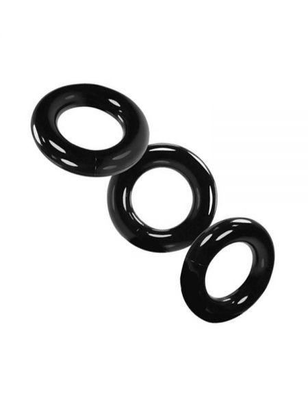 Oxballs Willy Rings: Cockring 3er-Set, schwarz
