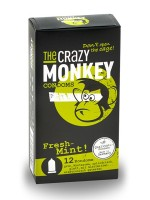 The Crazy Monkey Condoms Fresh-Mint 12er Pack