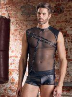 NEK: Herren-Netz-Shirt, schwarz
