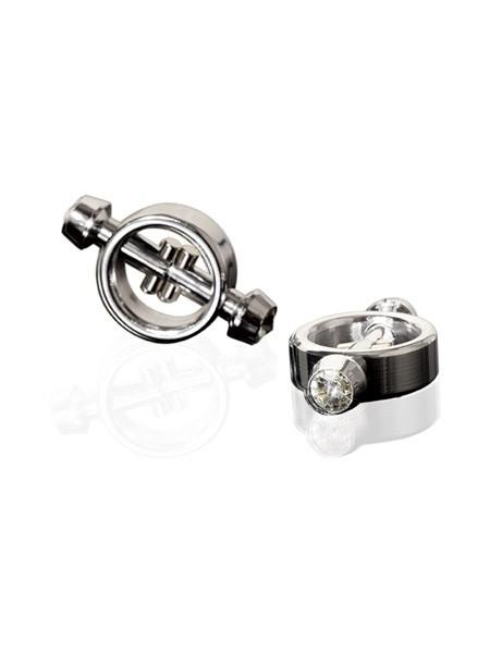 Metal Wörx Magnetic Nipple Clips, silber